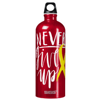 NEVER GIVE UP Traveller (1.0L), Red Water Bottle