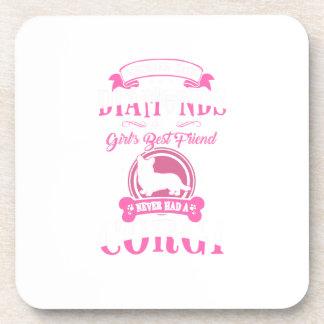Never had a Corgi Mommy dog shirt Coaster