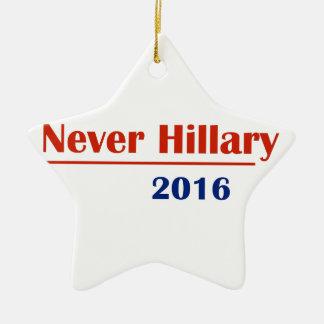Never Hillary 2016 Ceramic Star Ornament
