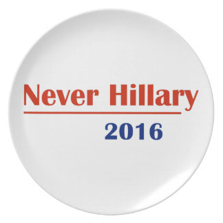 Never Hillary 2016 Party Plates