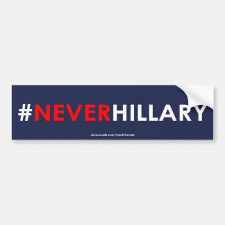 Never Hillary Bumper Sticker #NEVERHILLARY (Blue)