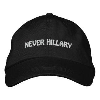 NEVER HILLARY For President 2016 Embroidered Baseball Cap