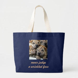 Never Judge a Wrinkled Face Tote