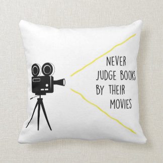 Never Judge Books By Their Movies Throw Pillow