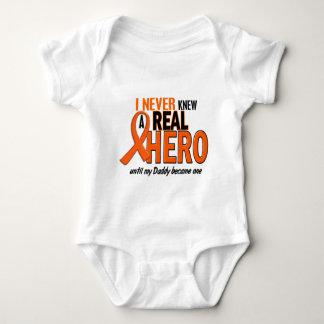 Never Knew A Hero 2 ORANGE (Daddy) Baby Bodysuit