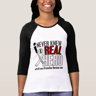 Never Knew A Real Hero 2 Grandma Lung Cancer T-Shirt