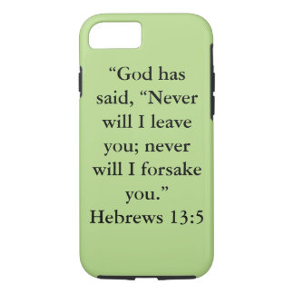 """Never Leave You"" IPhone 7 Tough Cell Phone Case"