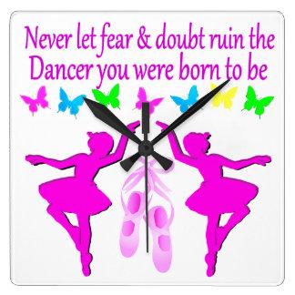 NEVER LET FEAR STOP THIS DAZZLING DANCER DESIGN CLOCK