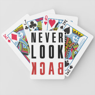 Never Look Back Bicycle Playing Cards