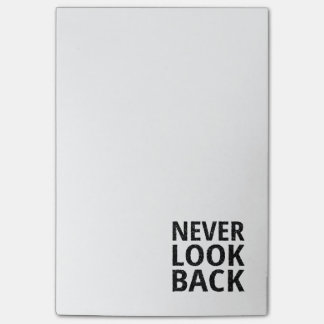 Never Look Back Inspirational Typography Post-it Notes