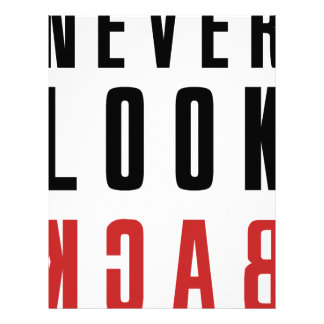 Never Look Back Letterhead