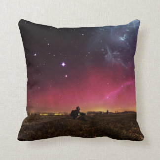 Never Lose Your Wonder Fractalscape Throw Pillow