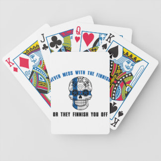 never mess with a fine sh bicycle playing cards