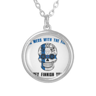 never mess with a fine sh silver plated necklace