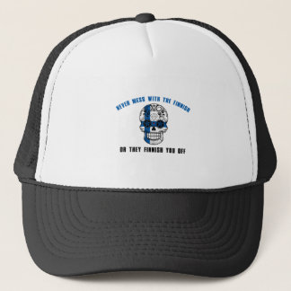 never mess with a fine sh trucker hat