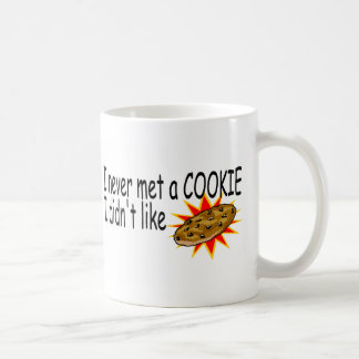 Never Met A Cookie I Didnt Like Classic White Coffee Mug