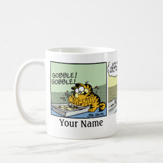 """Never Met a Lasagna"" Garfield Comic Strip Coffee Mug"
