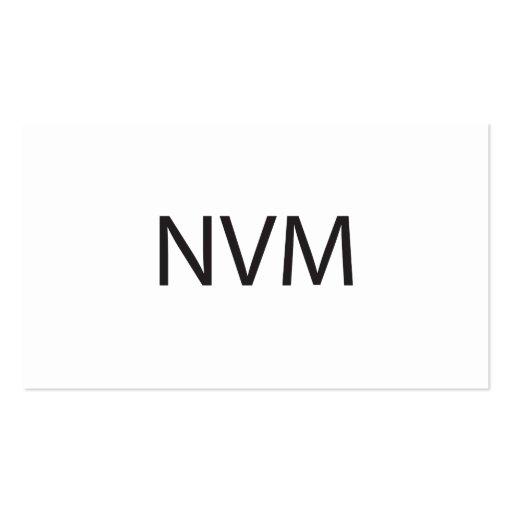 NeVer Mind.ai Business Card Template