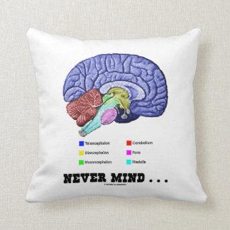 Never Mind ... (Brain Anatomy Humor) Throw Pillow
