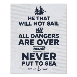 Never Put to Sea - Print