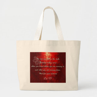 Never run alone. Stronger together! Large Tote Bag