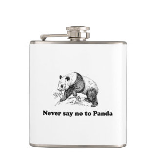 Never Say No to Panda Hip Flask