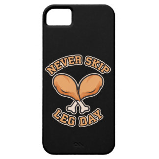 Never Skip Leg Day - Chicken Drumstick - Funny iPhone 5 Case