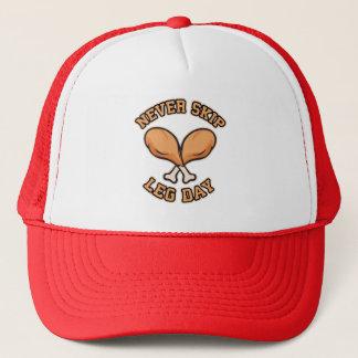 Never Skip Leg Day - Chicken Drumstick - Funny Trucker Hat