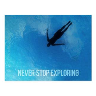 Never Stop Exploring Postcard