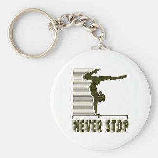 Never Stop: Gymnastics Keychain