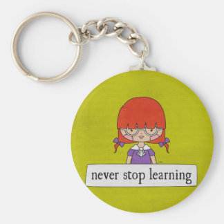 Never Stop Learning by Linda Tieu Keychain
