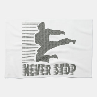 Never Stop: Martial Arts Kitchen Towel