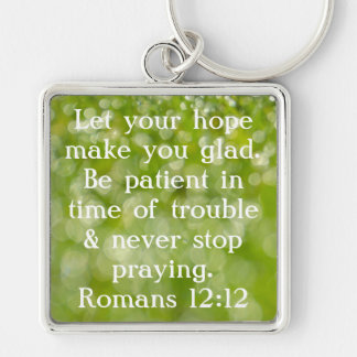 never stop praying bible verse key chain