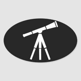 Never Stop Searching Telescope Oval Sticker