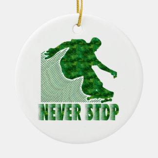 Never Stop: Skateboarding Ornament