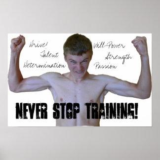 Never Stop Training Motivational Poster