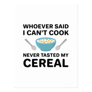 Never Tasted My Cereal Postcard