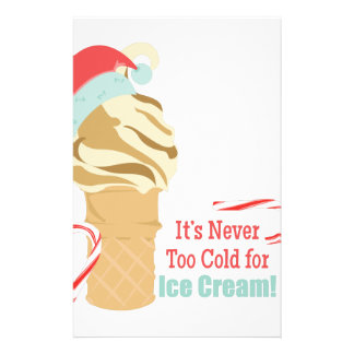 Never Too Cold Stationery