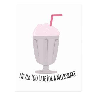 Never Too Late For A Milkshake Postcard