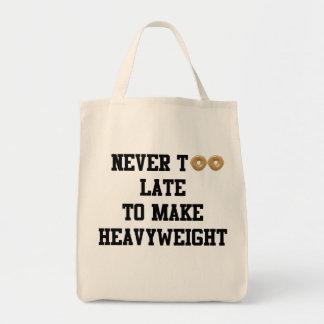Never Too Late to Make Heavyweight Grocery Bag
