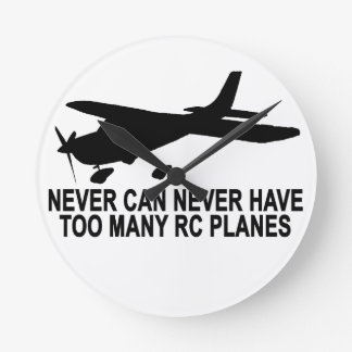 Never Too Many RC Planes T-Shirt.png Round Clock