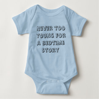 Never too young for a bedtime story - Boys Baby Bodysuit
