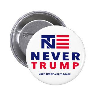 """NEVER TRUMP"" 2.25-inch 2 Inch Round Button"
