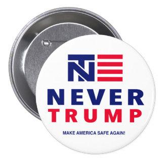 """NEVER TRUMP"" 3-inch 3 Inch Round Button"