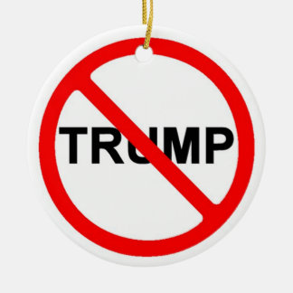 Never Trump Ceramic Ornament