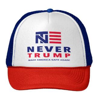 """NEVER TRUMP: MAKE AMERICA SAFE AGAIN!"" TRUCKER HAT"
