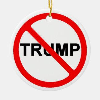 Never Trump Round Ceramic Ornament