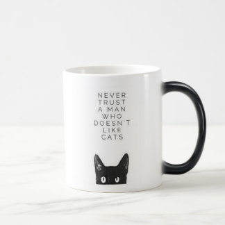 Never trust a man Mug for Cat lovers