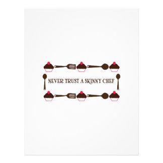 Never Trust A Skinny Chef Letterhead Design