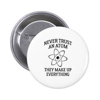 Never Trust An Atom 2 Inch Round Button
